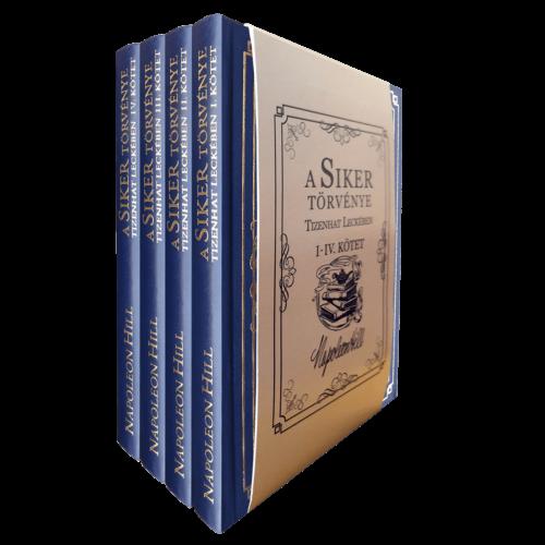 Napoleon Hill: A Siker Törvénye Tizenhat Leckében - 4 kötetes kiadás