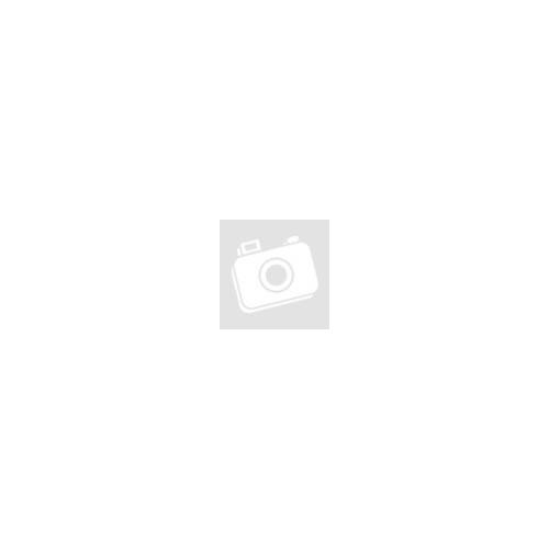 Fekete kaucsuk karkötő, ezüst színű, pillangó formájú nemesacél dísszel