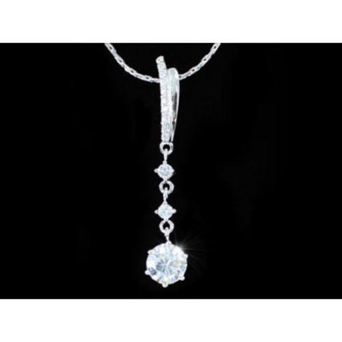 Swarovski kristályos nyaklánc hosszú három köves medállal