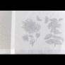 Kép 2/3 - HERB Szürke színű asztalterítő növény mintákkal