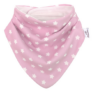 Kép 2/5 - Bibetta nyálkendő dupla nedvszívó réteggel - rózsaszín csillagos