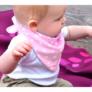 Kép 3/5 - Bibetta nyálkendő dupla nedvszívó réteggel - rózsaszín csillagos