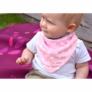 Kép 4/5 - Bibetta nyálkendő dupla nedvszívó réteggel - rózsaszín csillagos