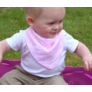Kép 5/5 - Bibetta nyálkendő dupla nedvszívó réteggel - rózsaszín csillagos