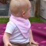 Kép 1/3 - Bibetta nyálkendő dupla nedvszívó réteggel - rózsaszín csíkos