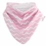 Kép 2/3 - Bibetta nyálkendő dupla nedvszívó réteggel - rózsaszín csíkos