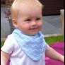 Kép 4/5 - Bibetta nyálkendő dupla nedvszívó réteggel - kék csíkos
