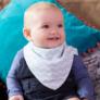 Kép 5/5 - Bibetta nyálkendő dupla nedvszívó réteggel - kék csíkos