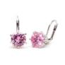 Kép 1/4 - Tidal Swarovski kristályos fülbevaló - Rózsaszín