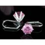 Kép 4/4 - Tidal Swarovski kristályos fülbevaló - Rózsaszín