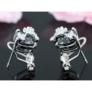 Kép 4/4 - Flix Swarovski kristályos fülbevaló - Fekete