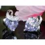 Kép 2/4 - Aurora Swarovski kristályos szív alakú fülbevaló