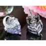 Kép 4/4 - Aurora Swarovski kristályos szív alakú fülbevaló