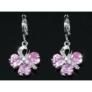 Kép 3/3 - Polly Swarovski kristályos fülbevaló -Rózsaszín