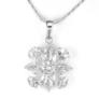 Kép 1/3 - Swarovski kristályos nyaklánc 8 szirmú virágos medállal