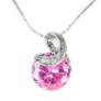Kép 1/5 - Swarovski kristályos nyaklánc rózsaszin köves medállal