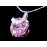 Kép 3/5 - Swarovski kristályos nyaklánc rózsaszin köves medállal