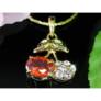 Kép 3/3 - Swarovski kristályos nyaklánc cseresznye medállal
