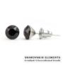Kép 1/2 - Jazzy fekete Swarovski® kristályos fülbevaló - Kerek Jet