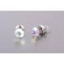 Kép 2/2 - Jazzy színjátszó SWAROVSKI® kristályos fülbevaló Gemini  - Kerek Crystal