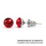 Kép 1/2 - Jazzy piros SWAROVSKI® kristályos fülbevaló  Aries  - Light Siam Kerek
