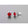 Kép 2/2 - Jazzy piros SWAROVSKI® kristályos fülbevaló  Aries  - Light Siam Kerek