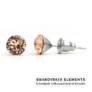Kép 1/2 - Jazzy barack Swarovski® kristályos fülbevaló - Light Peach