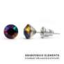 Kép 2/3 - Jazzy színes Swarovski® kristályos fülbevaló - Rainbow Dark