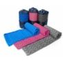 Kép 1/5 - Csúszásgátlós jógatörölköző ajándék táskával - kék